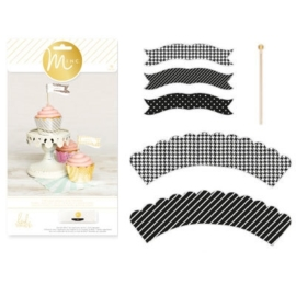 Minc cupcake wraps & toppers x96