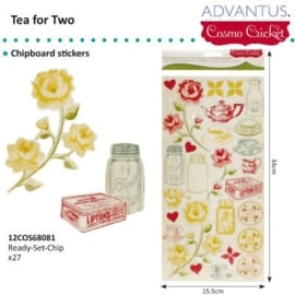 Tea for two chipboard stickers x27