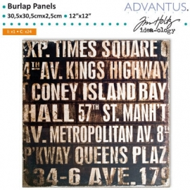 Burlap panel subway