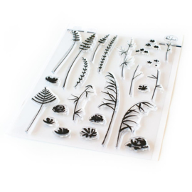 "Clear Stamp Set 6""X8"" Wild Flower Sketches"
