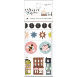 Market Square Sticker Rolls
