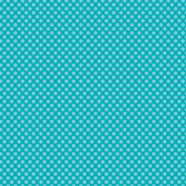 Patterned single-sided teal large dot