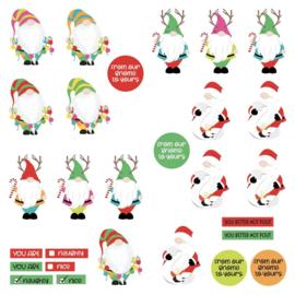 Tulla & Norbert's Christmas Party Cardstock Die-Cut Sheet Gnomies