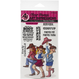Girlfriends Clear Stamp Cowgirls