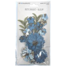 Rustic Bouquet Paper Flowers Bluejay