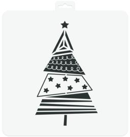 Stencil Christmas Tree
