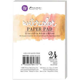 Watercolor Paper Pad 2.5x4.25 inch
