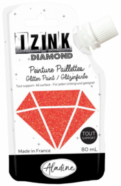 Izink Diamond Glitter Paint Red