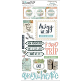 Vintage Artistry Anywhere Chipboard Stickers