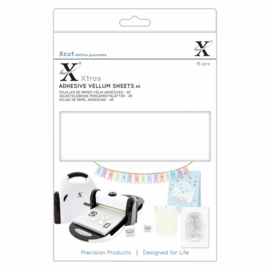 Xtra's A5 Adhesive Vellum Sheets White