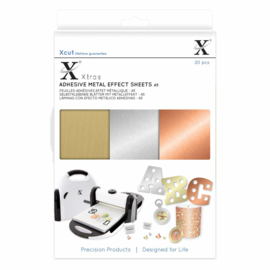 Xtra A5 Adhesive Metal Effect Sheets