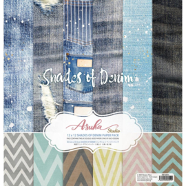 "Shades Of Denim Collection Pack 12""X12"""