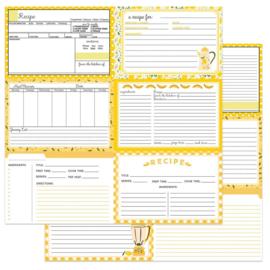 Recipe Cards Happy Fruit -Yellow