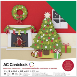 "Variety Cardstock Pack Christmas 12""X12"""