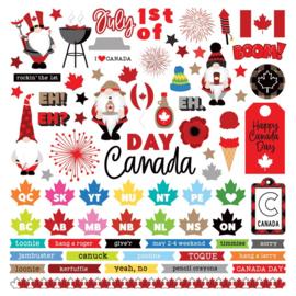 Gnome Calendar Stickers Elements, Canada