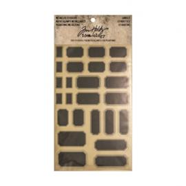 Metallic stickers labels