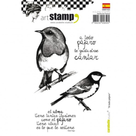 Cling stamp A6 a toto pajaro