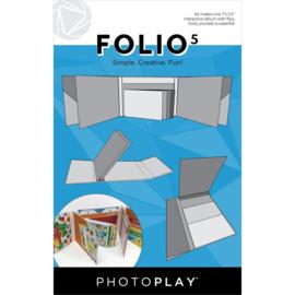 """PhotoPlay Folio 5.5""""X7"""" White"""