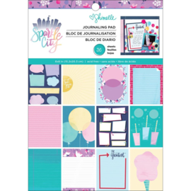"Sparkle City Single-Sided Paper Pad 6""X8"""