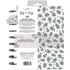 """Day-To-Day Undated Freestyle Planner 7.5""""X9.5"""" Blue Floral"""