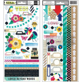 Color Kaleidoscope Stickers Accent & Phrase