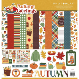 """Autumn Greetings Collection Pack 12""""X12"""""""