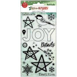 Warm Wishes Acrylic Stamps