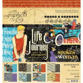 "Life's Journey Paper Pad 8""X8"""