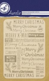 Christmas Sentiments Background Embossing Folder