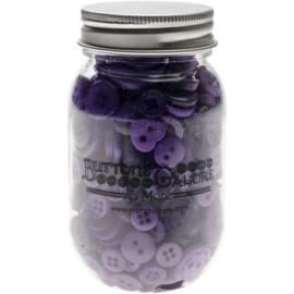 Button Mason Jars Ultra Violet