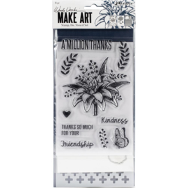 Make Art Stamp, Die & Stencil Set A Million Thanks