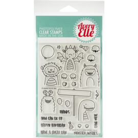 "Clear Stamp Set Peek-A-Boo Scary 4""X6"""