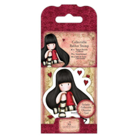 Gorjuss Mini Rubber Stamp - The Collector
