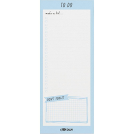 Sky Blue Magnetic To Do List