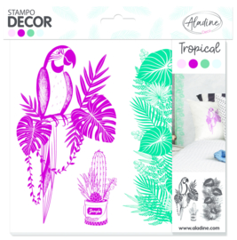 Decor Foam Stamps Tropical