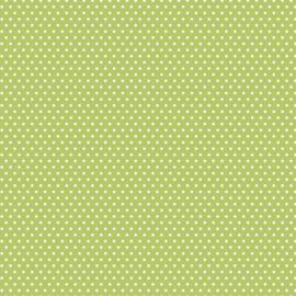 Patterned single-sided l.green sm.dot