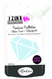 Izink Diamond Glitter Paint 24 Carats Light Blue