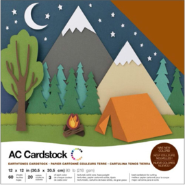 "Variety Cardstock Pack Earthtones 12""X12"""