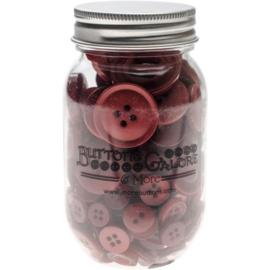 Button Mason Jars Merlot