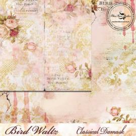 Bird Waltz Classical Damask