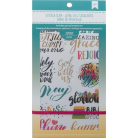 Planner Stickers 12-Page Book Faith