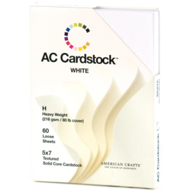Textured Cardstock Pack Solid White 5x7 Inch