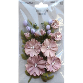 Royal Spray Paper Flowers Orchid
