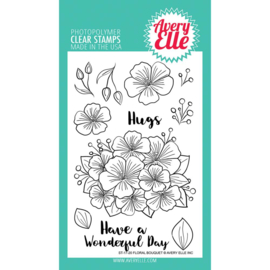 "Clear Stamp Set Floral Bouquet 4""X6"""