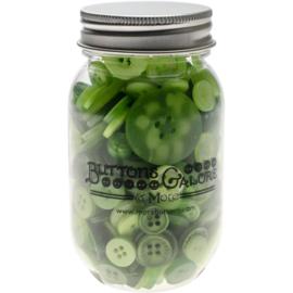 Button Mason Jars Greenery