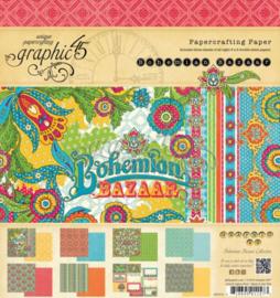 Bohemian Bazaar Paper Pad  12x12 Inch