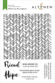 Clear Stamp Whimsical Herringbone