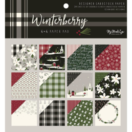 "Winterberry Paper Pad 6""X6"""