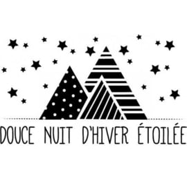 Wooden Stamp Douce Nuit D'Hiver