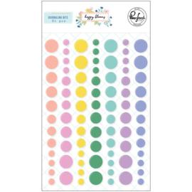 Happy Blooms Enamel Dot Stickers